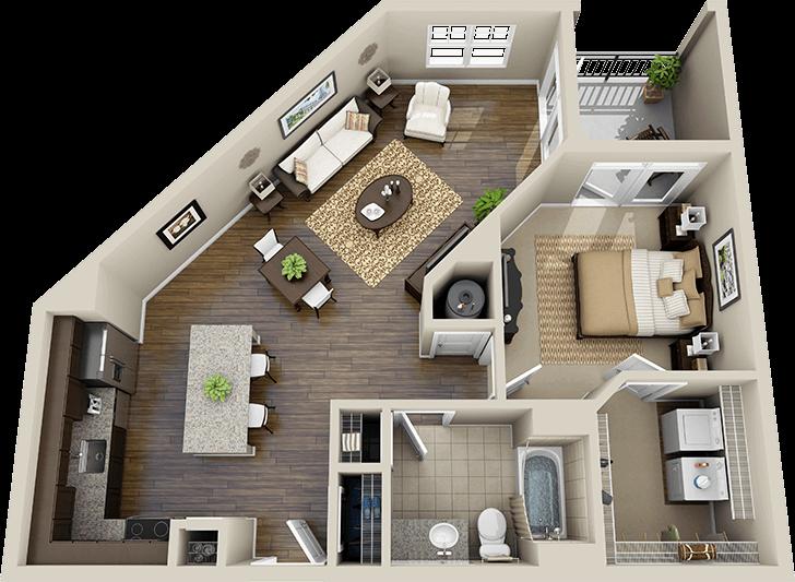 3d floor plan apartment - Google Search   Apartment floor ...