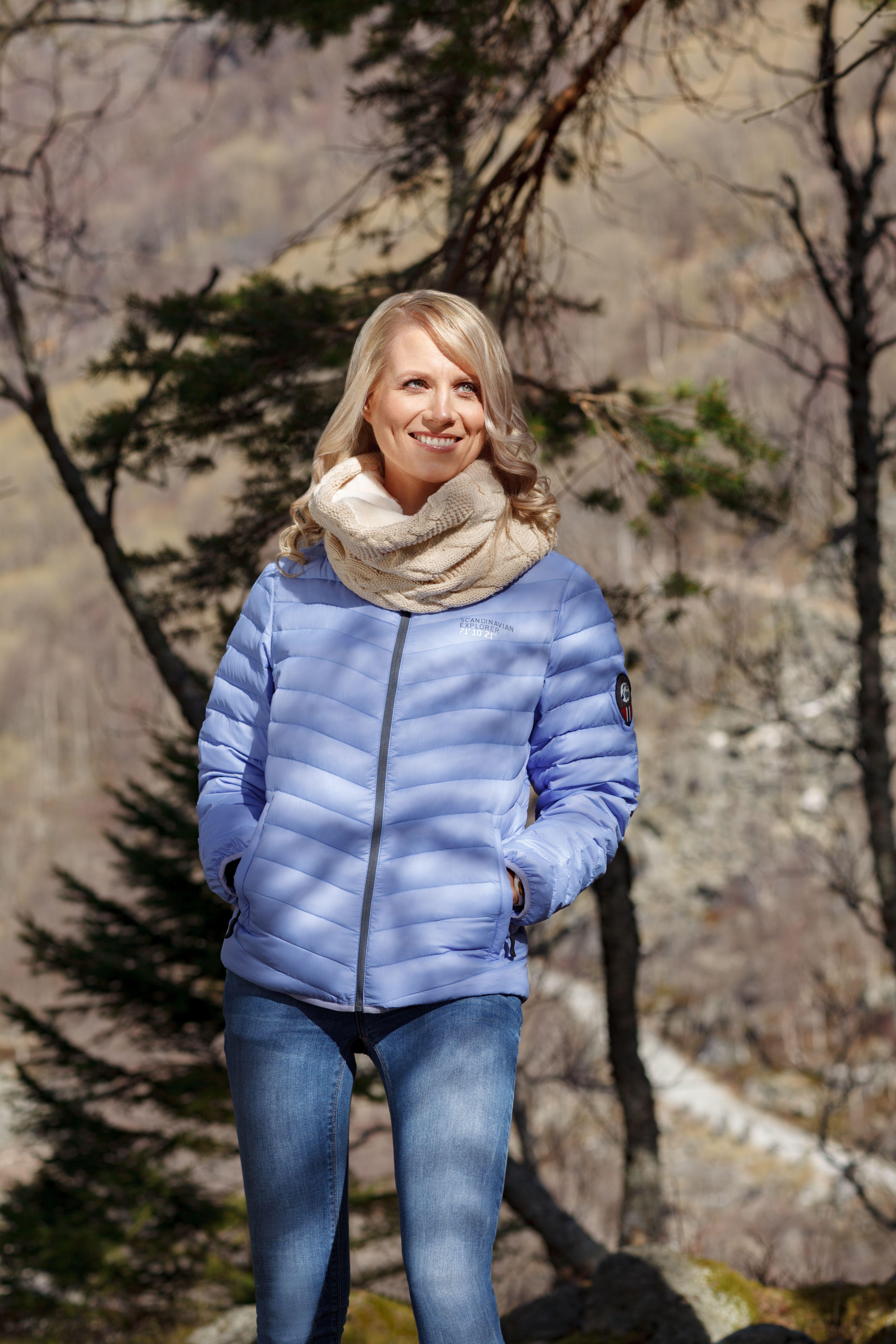 Norwayshop Down Jacket Women Light Blue Black Week Jackets For Women Jackets