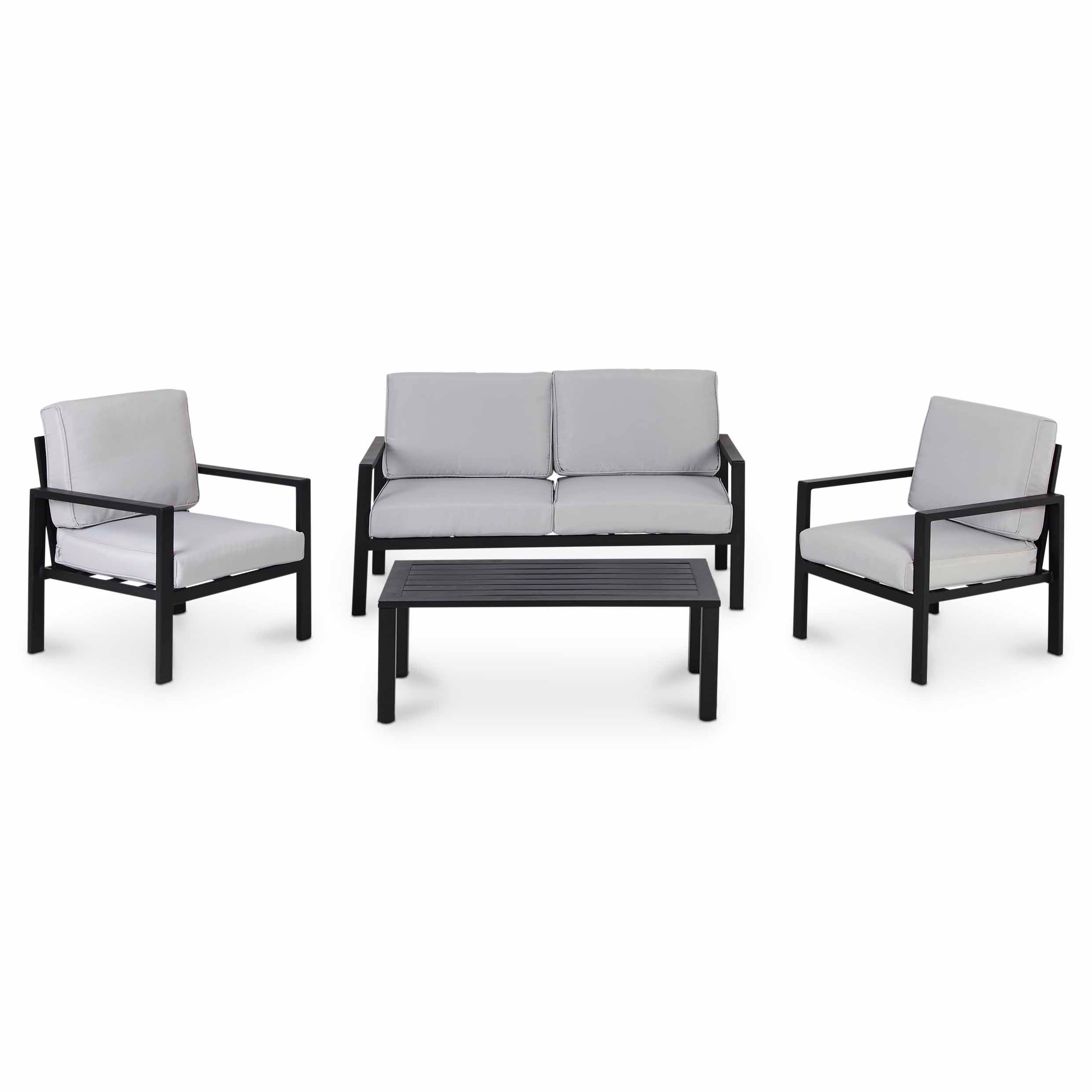 Jaz Metal 4 Seater Coffee Set B Q For All Your Home And Garden Supplies And Advice On All The Latest D B Q Garden Furniture Coffee Table Coffee Table Setting