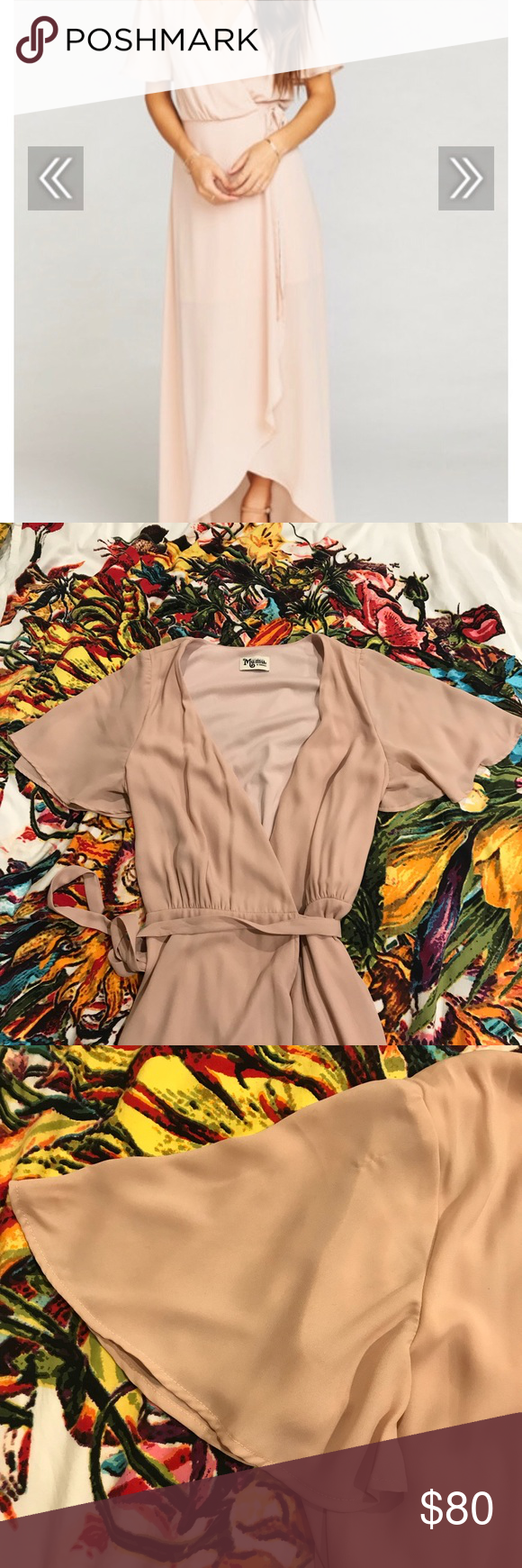 f42f6005d9 Show Me Your MuMu Sophia Wrap Dress Dusty Blush Purchased this for a  wedding (it s