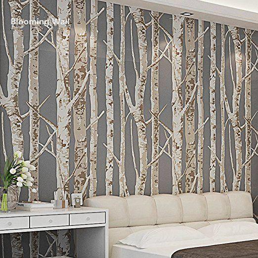 Blooming Wall 60033 Birch Tree Wallpaper Wall Mural Wall Paper