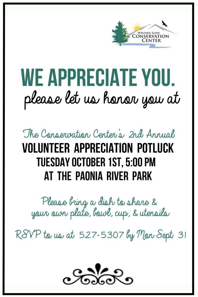 Volunteer Appreciation Invite | Volunteer ideas ...