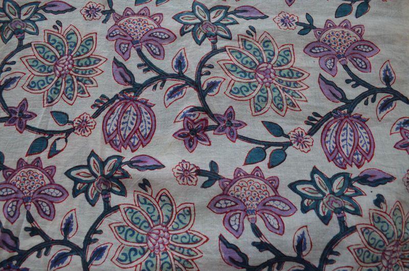10 Yard Indian Hand block Print Running Loose Cotton Fabrics Printed Decor Craft