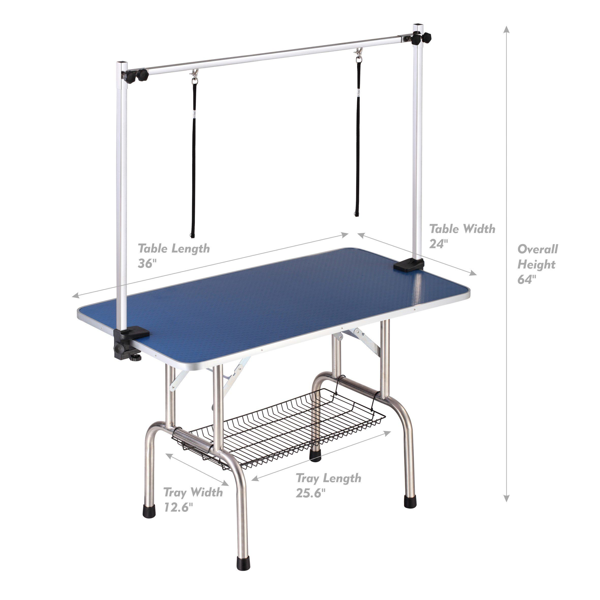 Gelinzon Adjustable Dog Grooming Table Clamp Overhead Pet Grooming