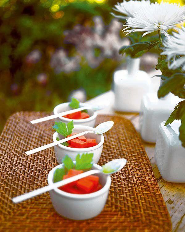 Gazpacho en gelatina