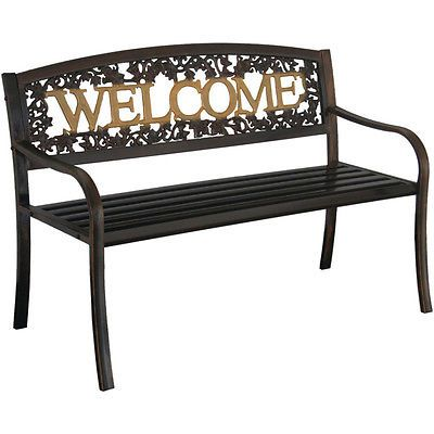 Leigh Country Bench Black Gold Welcome Design Outdoor