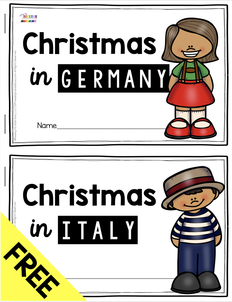 All About Christmas Free Activities Mexico Italy And Germany Keeping My Kiddo Busy Christmas Teaching Christmas Kindergarten Christmas Classroom