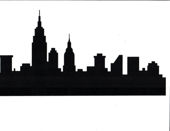 Nyc Skyline Google Search Nyc Skyline City Skyline Silhouette Silhouette Paper