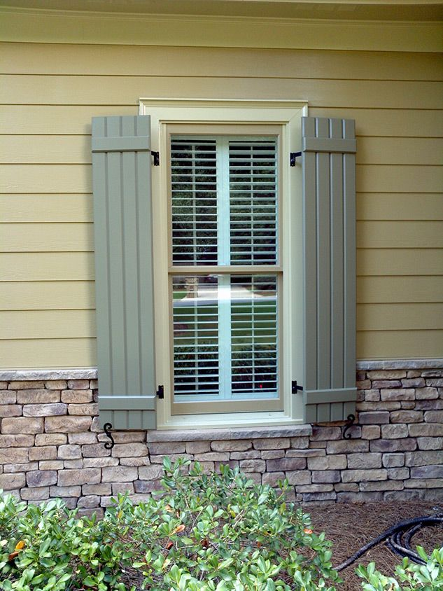Like Stone Shutters And Siding House Exterior House Shutters