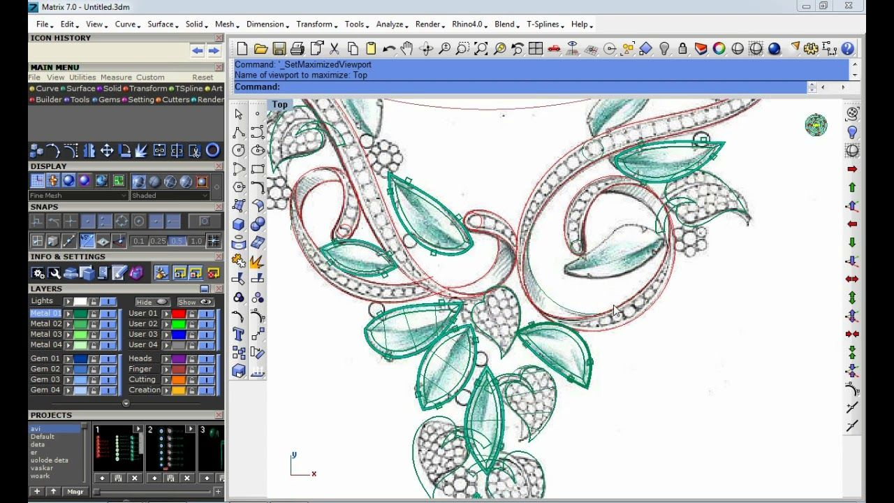 jewellery design neckless part 2 for beginners rhino cad