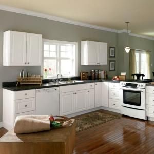Home Depot Hampton Bay White Kitchen Cabinets Mini kitchen makeover   replace base cabinets. Hampton Bay 36x34