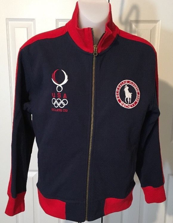 493173eae1dc Polo Ralph Lauren Olympic Team USA 2008 Beijing Tracksuit Top Jacket Kids