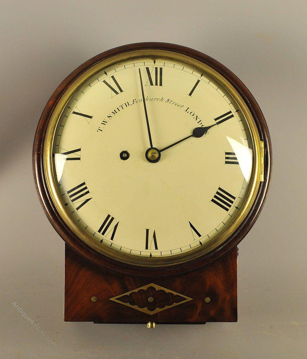 8 Inch Convex Fusee Dial Clock Smith London Antique Wall Clocks Clock Antique Clocks