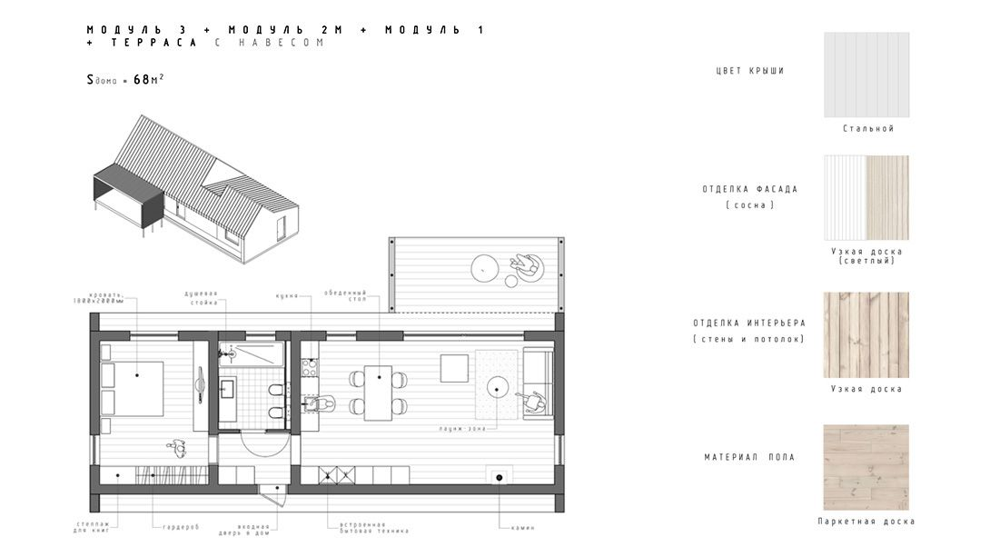 Plusmodul Eto Doma Iz Gotovyh Modulej Sobrat Kotorye Takzhe Prosto Kak Naprimer Sobrat V Magazin House Plans Summer House Design House Styling Interior
