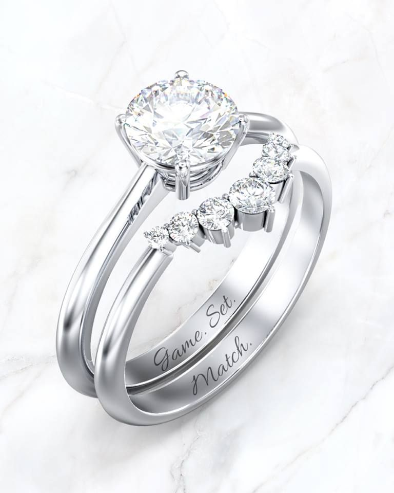 Classic Solitaire Engagement Ring And Graduated Diamond Tiara