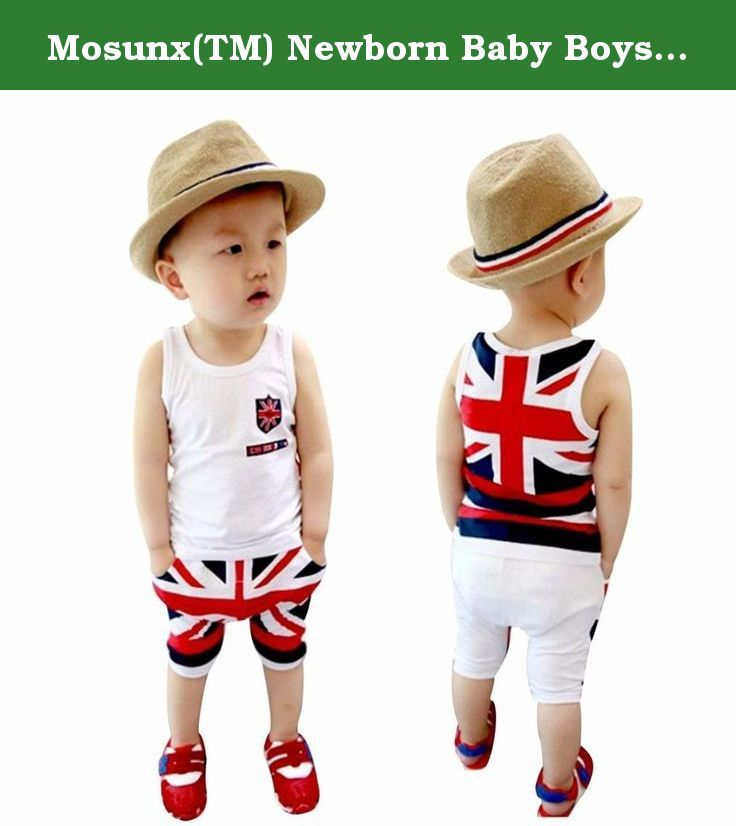 Shorts Clothes Set Outfit Newborn Toddler Baby Boy Sleeveless Vest Tops T-shirt