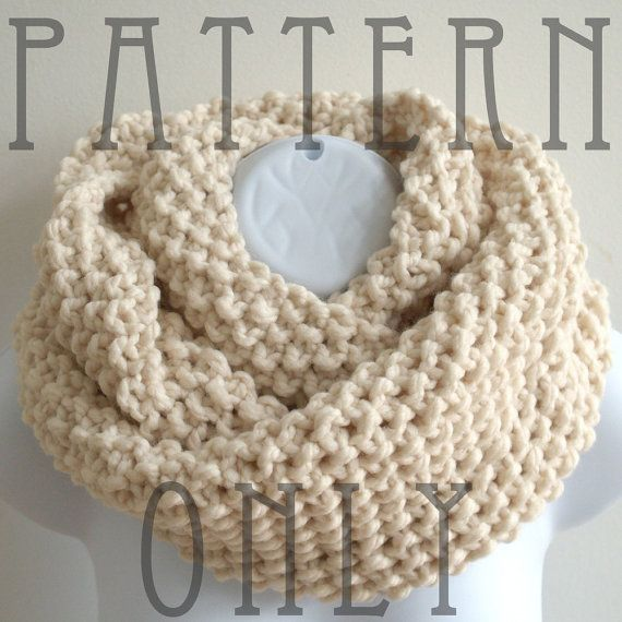 Knit Cowl Pattern - Cowl Knitting Pattern PDF for The READER | Tejido