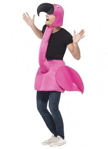 Inflatable Flamingo Fancy Dress Hawaiian Tropical Animal Bird Costume Party Prop