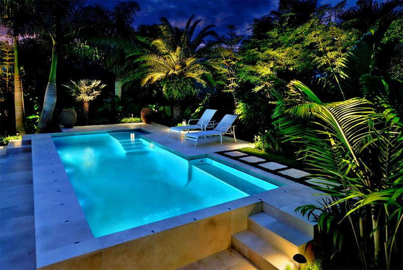 Pool Tropical Landscaping Ideas roof top pool floor plan - google search | all things garage