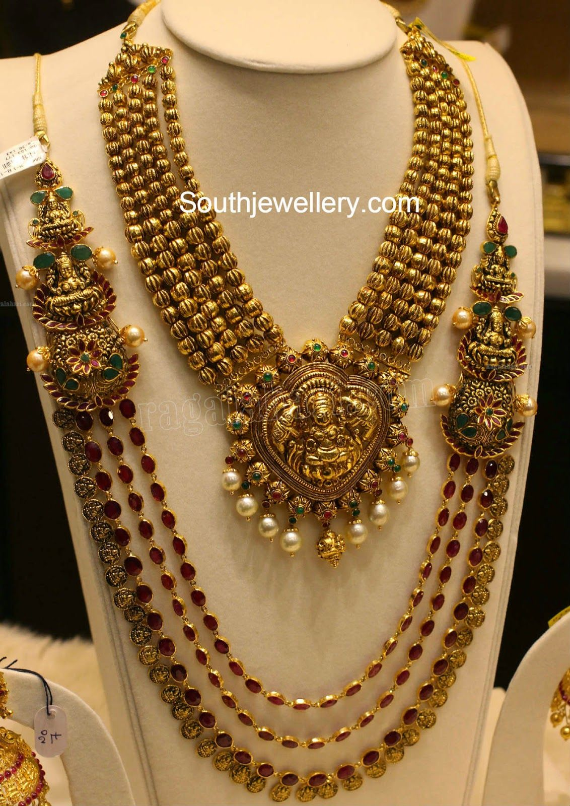 Pai jewellers gold necklace designs latest indian jewellery designs - Latest Temple Jewellery Designs
