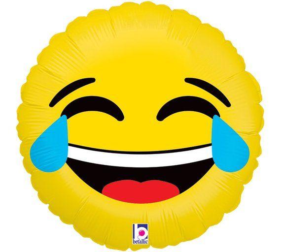 Emoji Balloons Emotion HAPPY BIRTHDAY Balloon LOL I Heart You With S