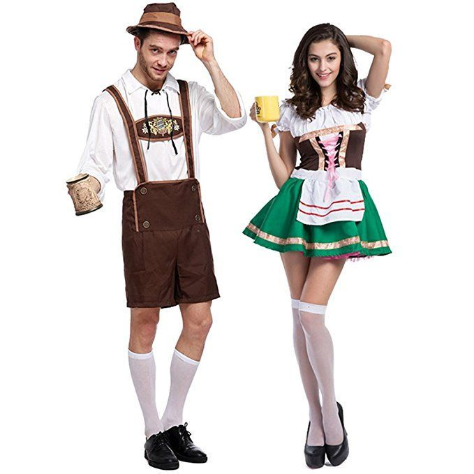 Party Dress Oktoberfest Bavarian Bar Maid Cosplay Halloween Costumes - his and her halloween costume ideas