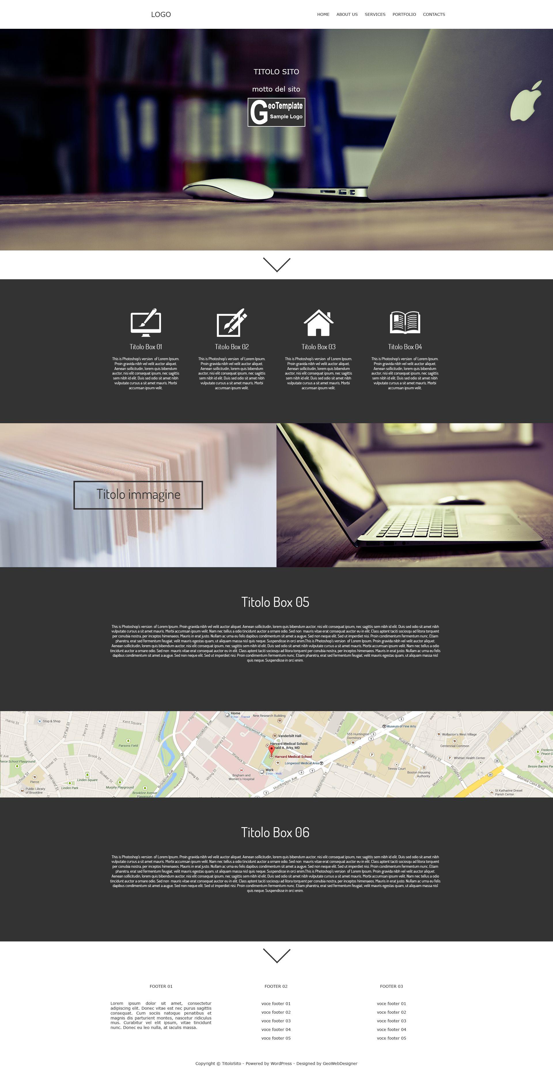 esempio di grafica web pensata per la creazione di un template ...