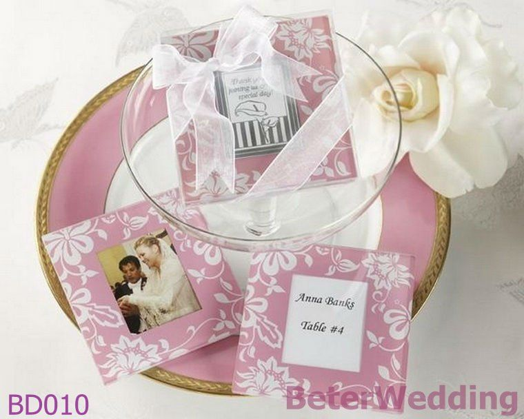 Beterwedding Giveaways Wholesale Spring Themed Glass Coaster Bd010