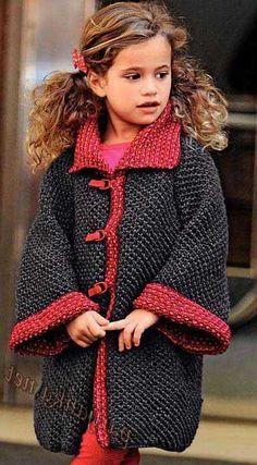 вязаное пальто для девочки спицами дети схема вязание детский