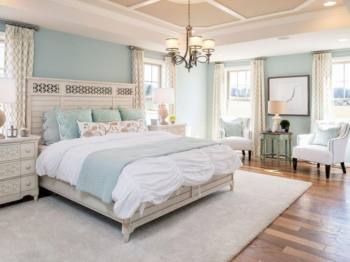 Modern Coastal Master Bedroom Decorating Ideas (48) (With