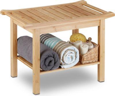 relaxdays Badezimmer Bank Bambus Jetzt bestellen unter https - bank fürs badezimmer