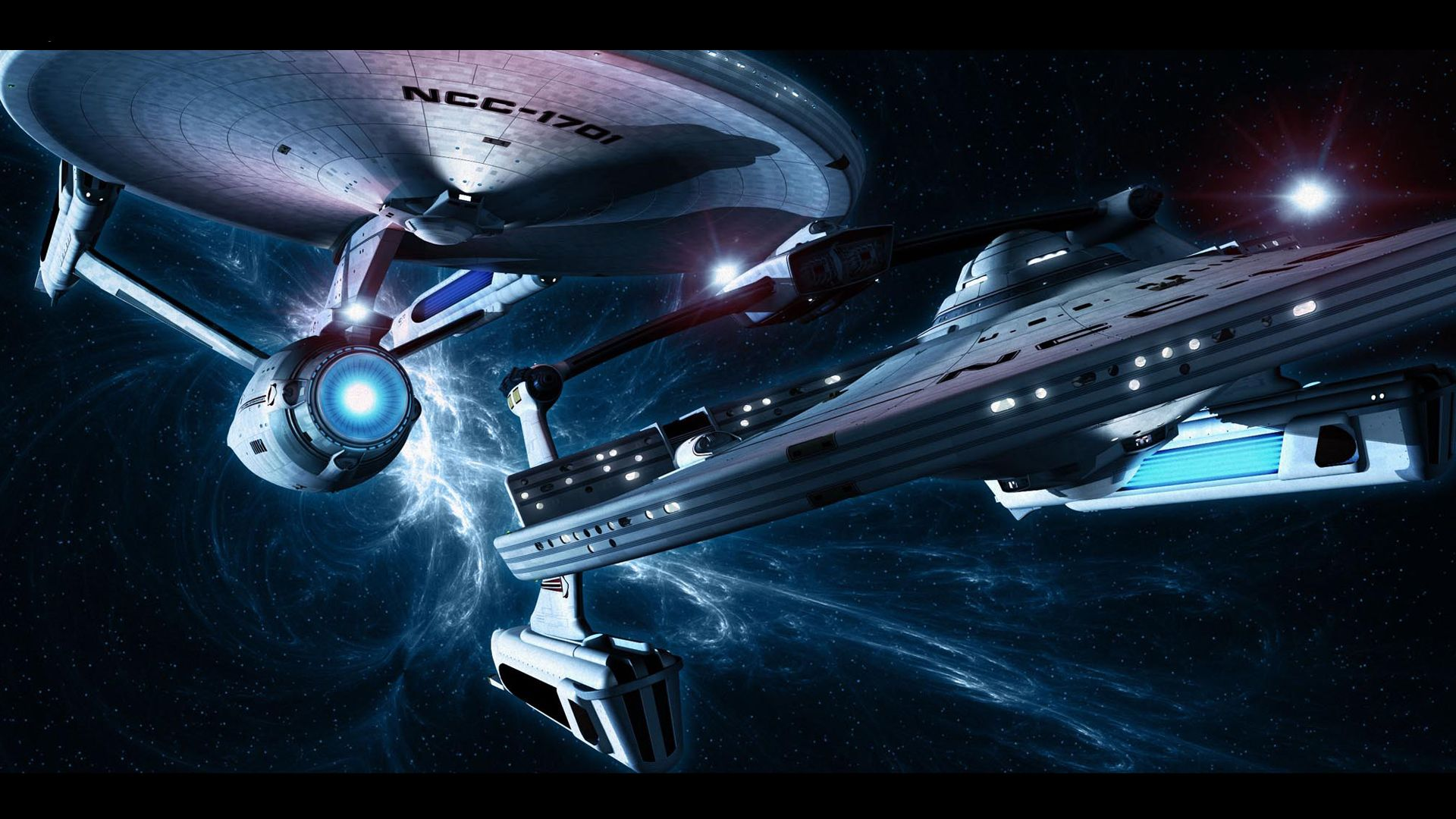 uss enterprise and miranda-class starship [1920x1080] need #iphone