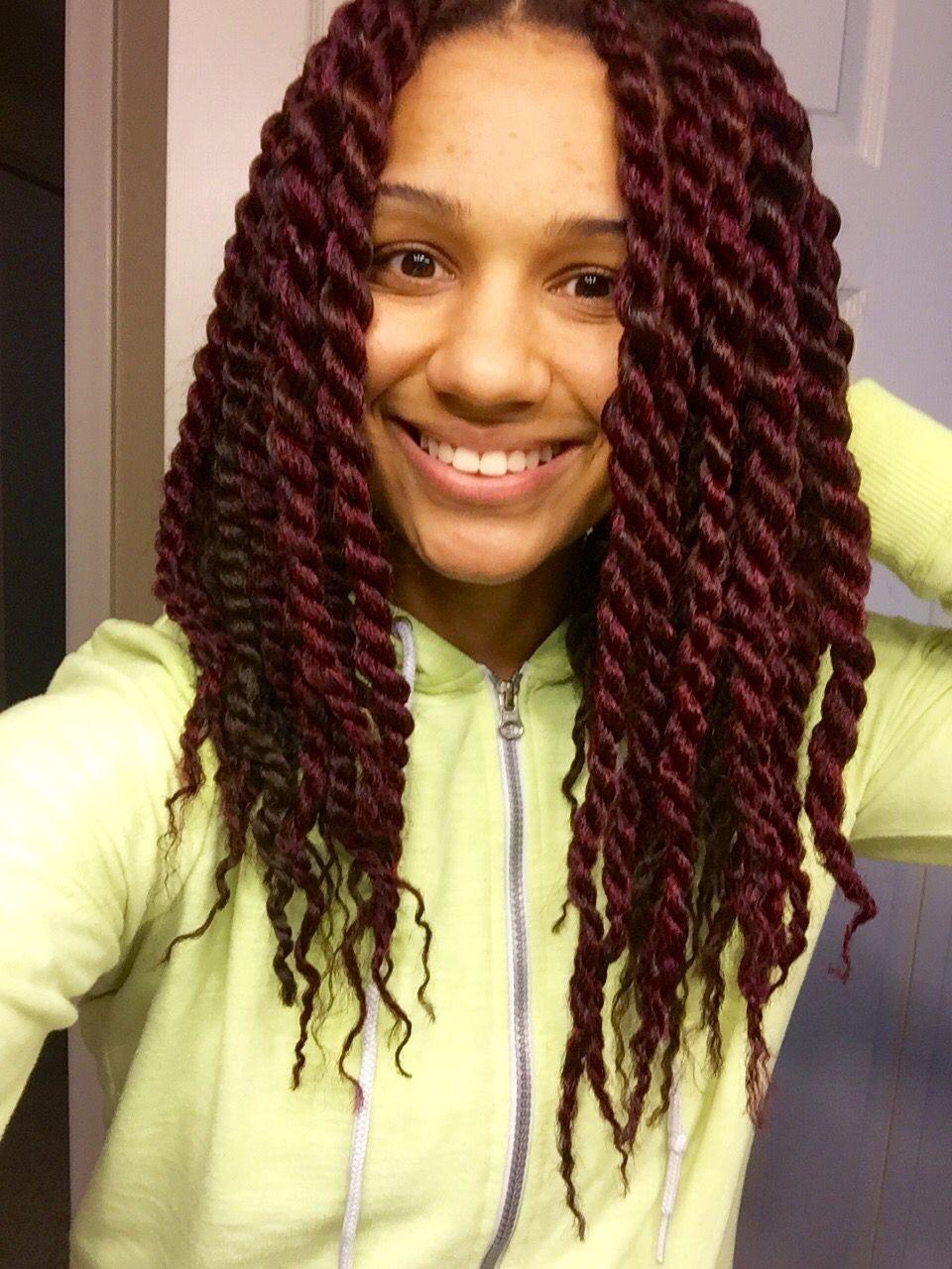 Red Brown Marley Twist