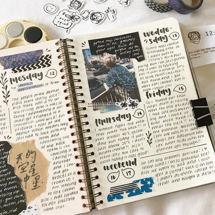 Bullet Journal Ideen, Kunstzeitschrift Inspiration - #Bullet #Ideen #Inspiration #Journal #Kunstzeitschrift