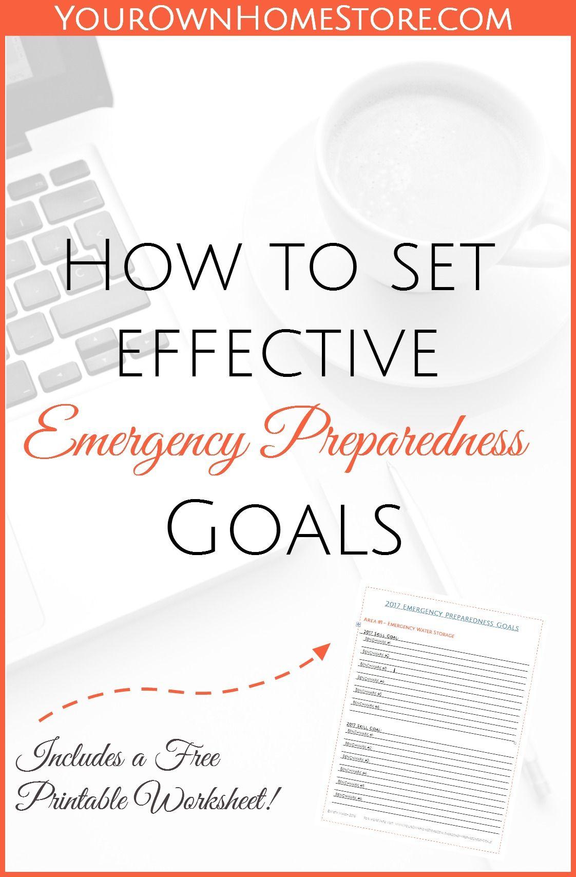 How To Set Effective Emergency Preparedness Goals