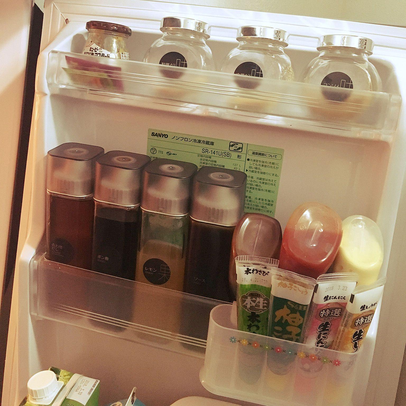 キッチン 調味料収納 調味料 冷蔵庫 冷蔵庫の中 などのインテリア