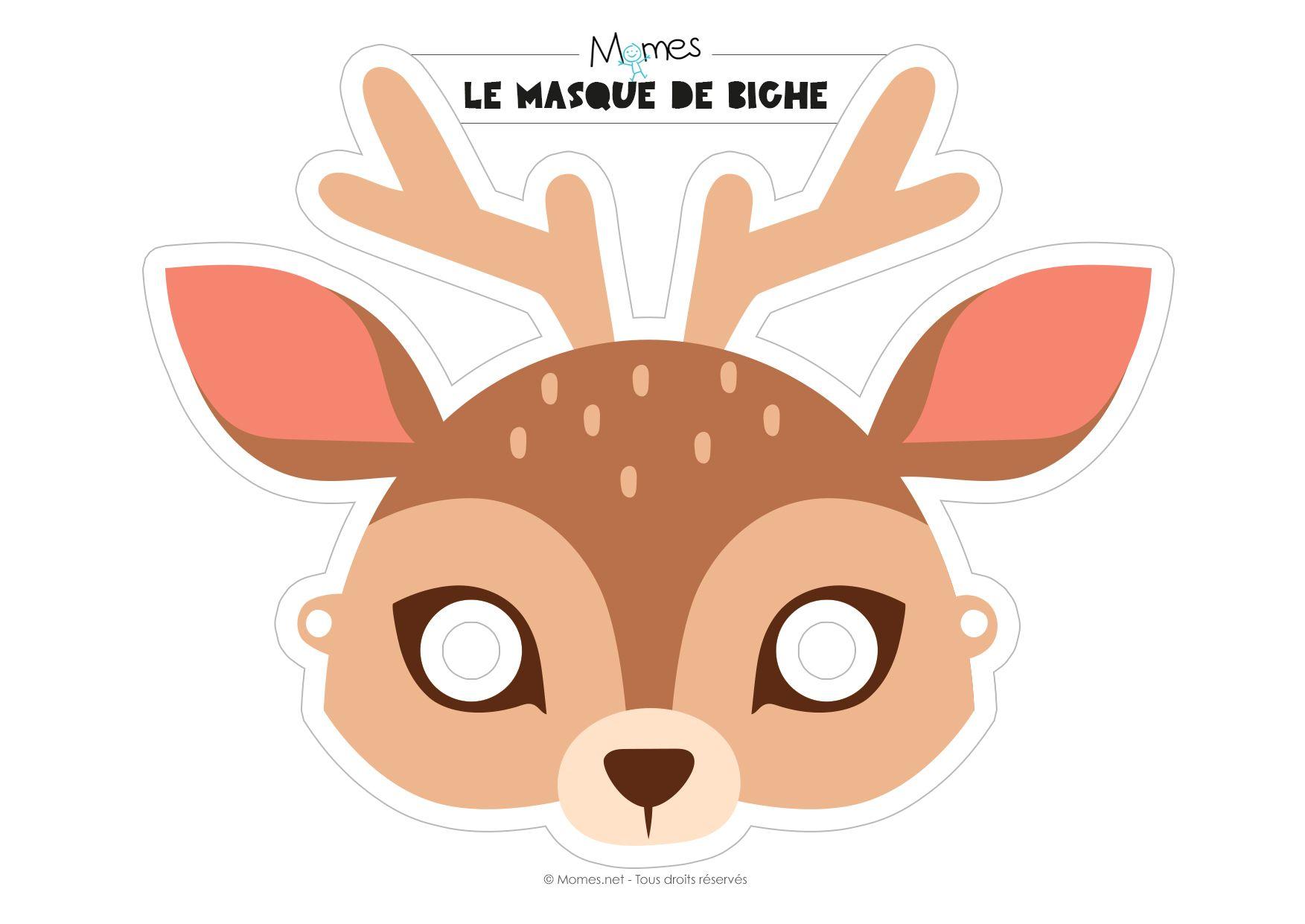 Masque de biche imprimer carnaval pinterest masque masque a imprimer et a imprimer - Masque loup a imprimer ...