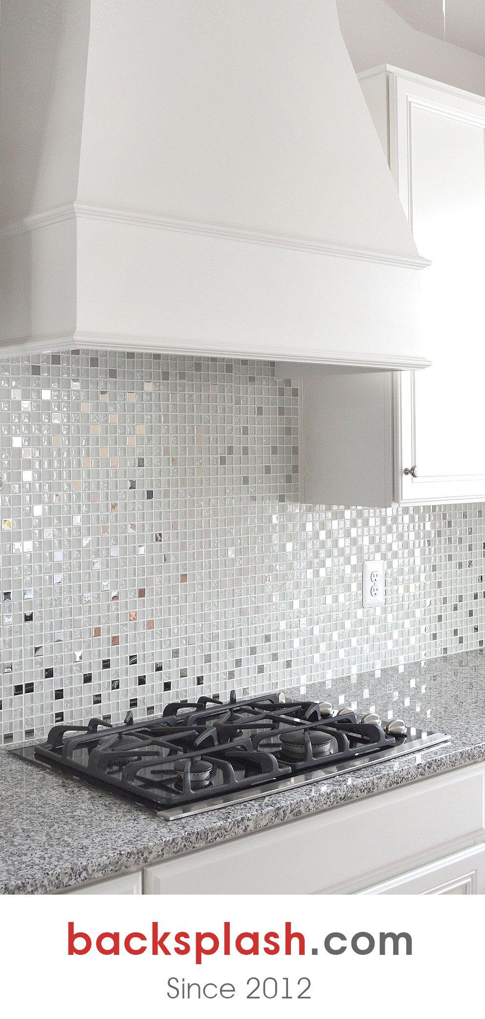 Modern White Glass Metal Kitchen Backsplash Tile Backsplash Com In 2021 Metal Backsplash Kitchen Tile Backsplash Modern Backsplash Kitchen backsplash tile white
