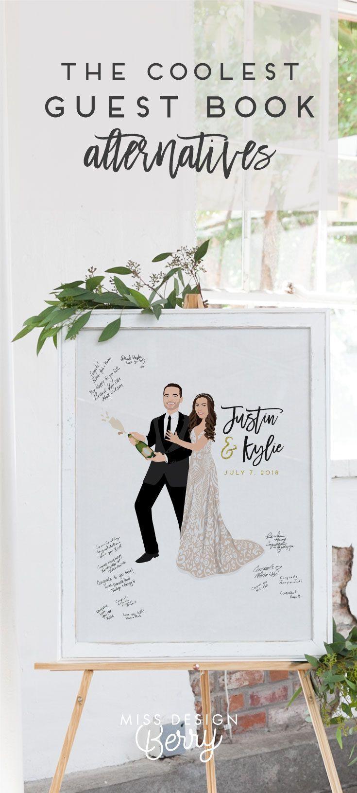 Miss Design Berry | Unique Wedding Guest Book Alternatives