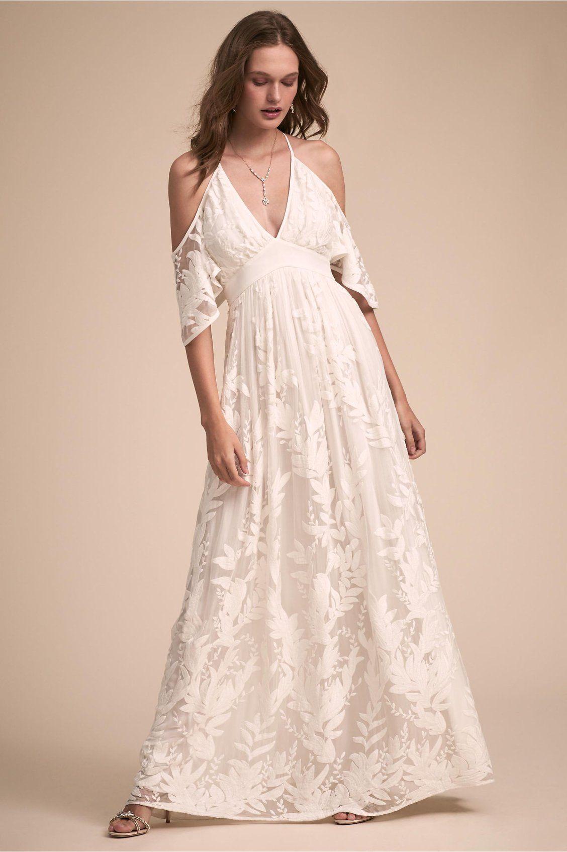 Wylie Dress From Bhldn Stunning Dresses A Line Wedding Dress Cold Shoulder Wedding Dress