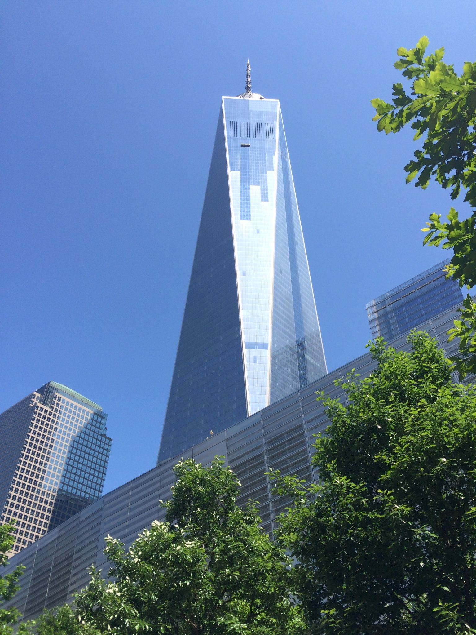 """Fri 5/29/15 grand opening day of """"One World Observatory"""" scheduled entry time,  2:15pm total visitors as we entered 5.424 Now Arriving! Added quickly to 6,928 upon departing. We will never see those #'s again as they go up in History!!"""