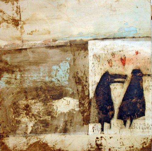 Matteo Cocci, mixed media on wood