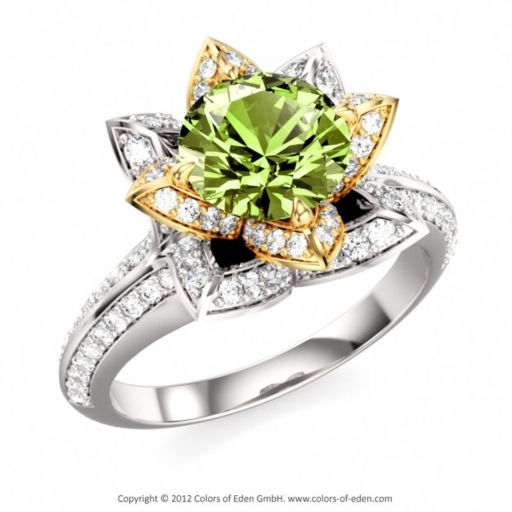 peridot engagement rings google search - Peridot Wedding Rings