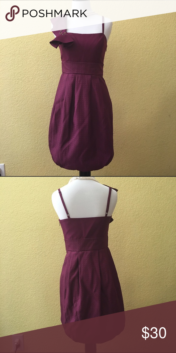 Cocktail dress Cocktail/party dress in deep purple with slight bubble hemming, adjustable spaghetti straps, worn only once BCBG Dresses Prom