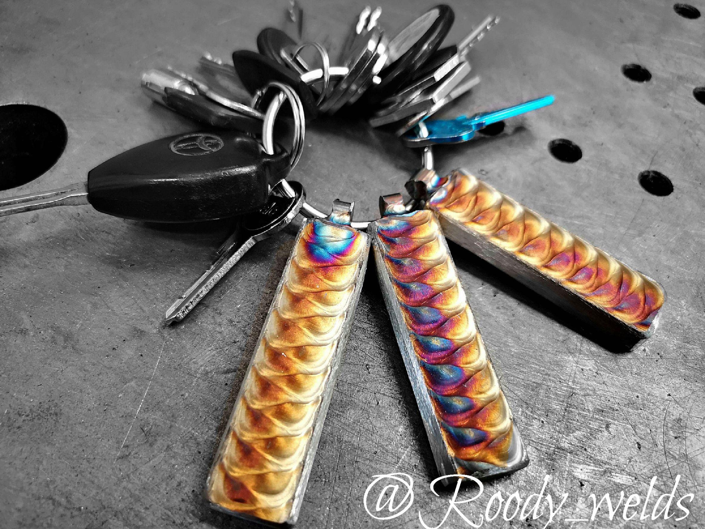 Stainless Steel Key Chains Welding Crafts Welding Art Welding Art Projects