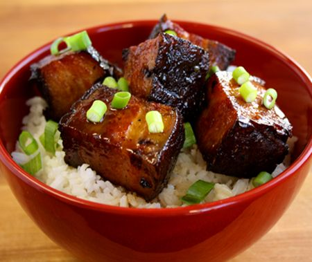 Simmered pork belly recipe