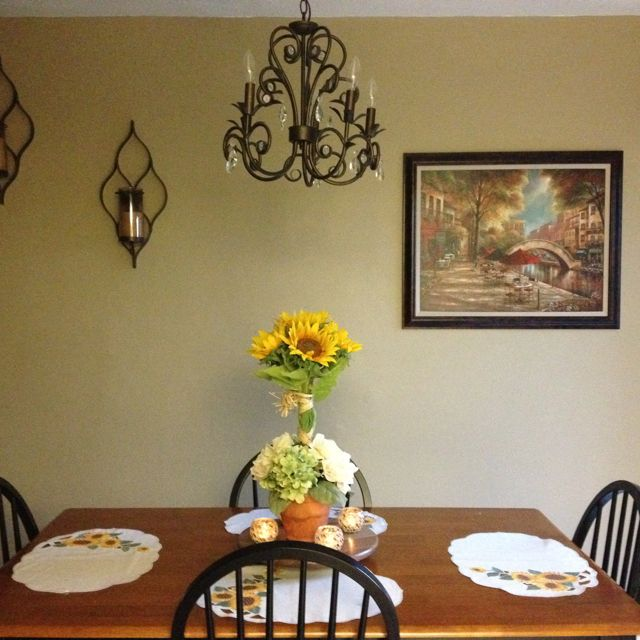 My dinning room. I'm pretty proud of it!