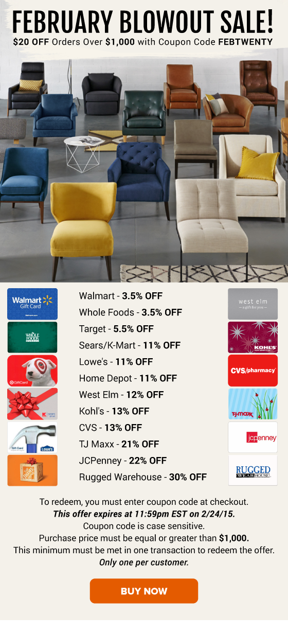 February Blowout Sale Whole Foods 3.5 OFF, Lowe's 11