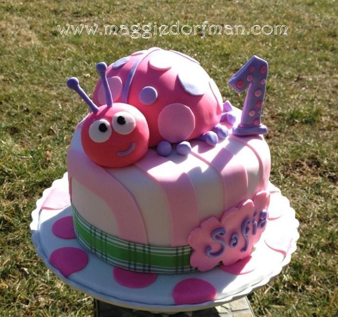 Pink Ladybug 1st Birthday Fondant Cake Sofiag 692648 Pixels