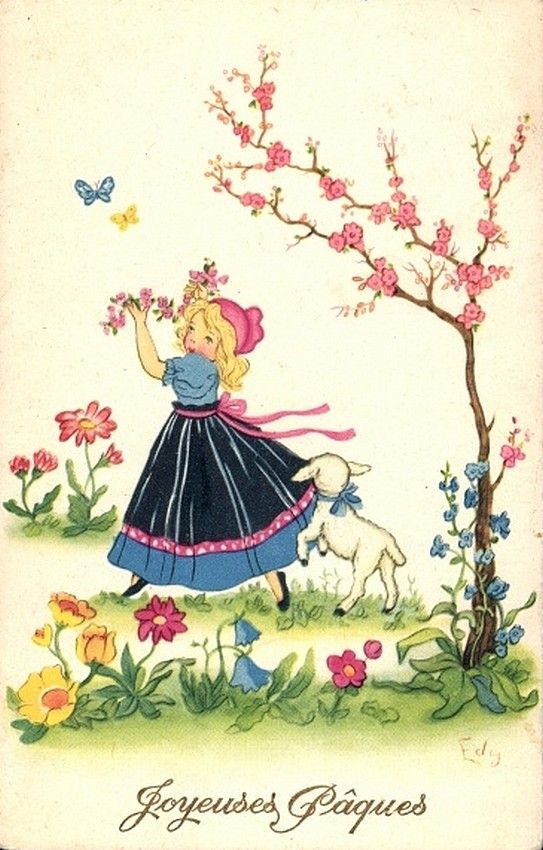 Old Easter Post Card —  (543x850)